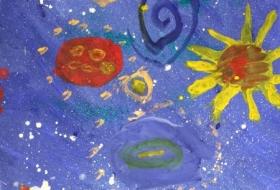 Рисунки к Дню Космонавтики