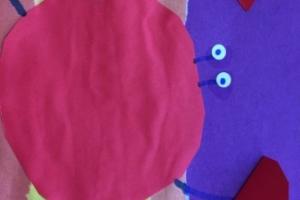 Краб на морском берегу - аппликация из цветной бумаги (3)