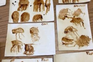 Медузы - рисование чаем и кофе (2)