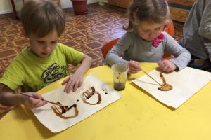 Медузы - рисование чаем и кофе (3)